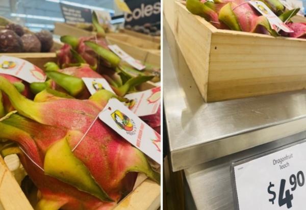 Thanh long Việt Nam bán ở siêu thị Australia