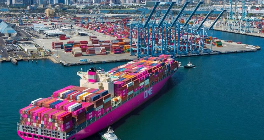 ONE Apus discharges cargo in Long Beach after last year's epic cargo loss